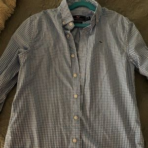 Vineyard Vines blue check button down